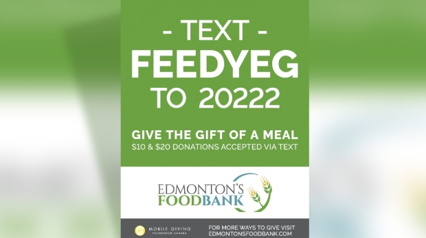 Edmonton Food Bank text donations