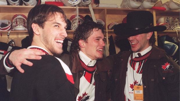 Canada '95 World Juniors Win Locker Room