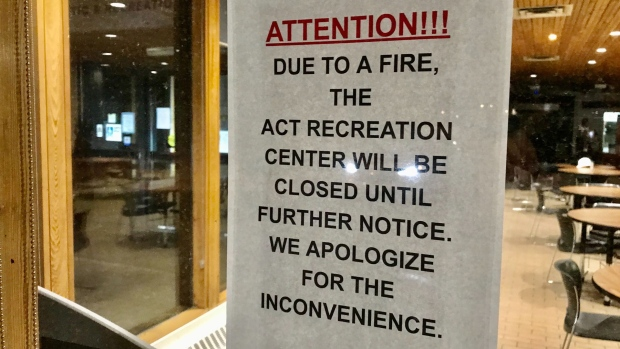 ACT Recreation Centre fire.