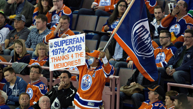 Oilers Fan Rexall Place