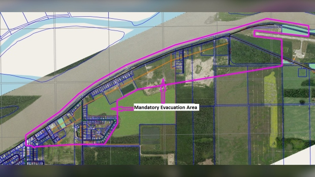 Fort Vermilion evacuation map