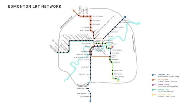Edmonton LRT Map