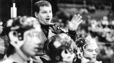 Head coach Graham James and the Swift Current Broncos junior hockey team are shown in this undated photo. (THE CANADIAN PRESS)