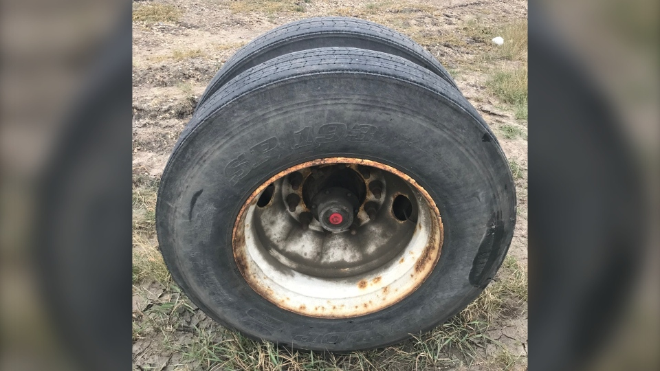 Dual tire from Oct. 27 crash