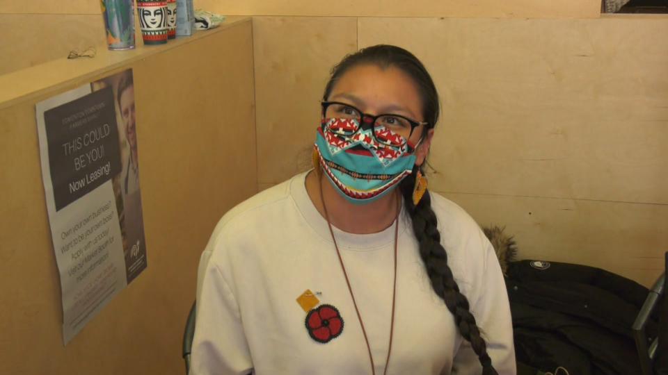 Indigenous Cree beaded poppies