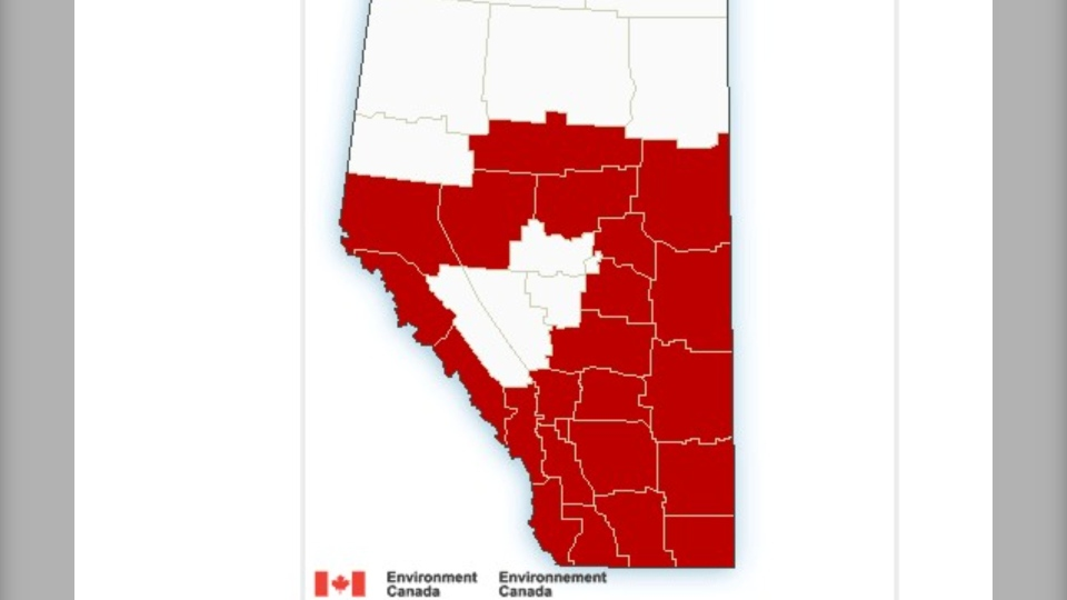 Envionrment Canada warning Jan. 13, 2021