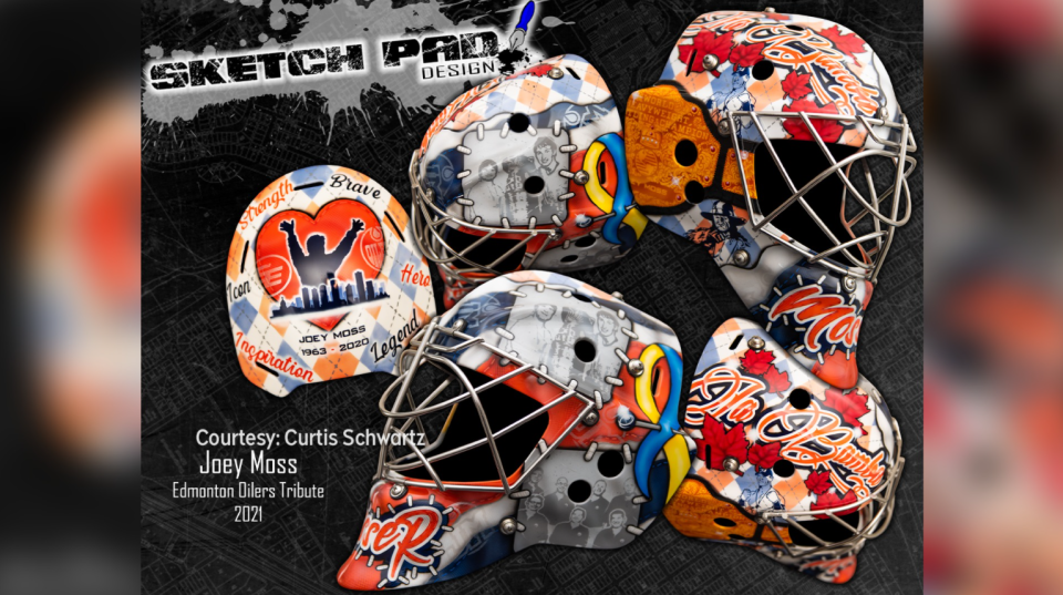 Joey Moss goalie mask