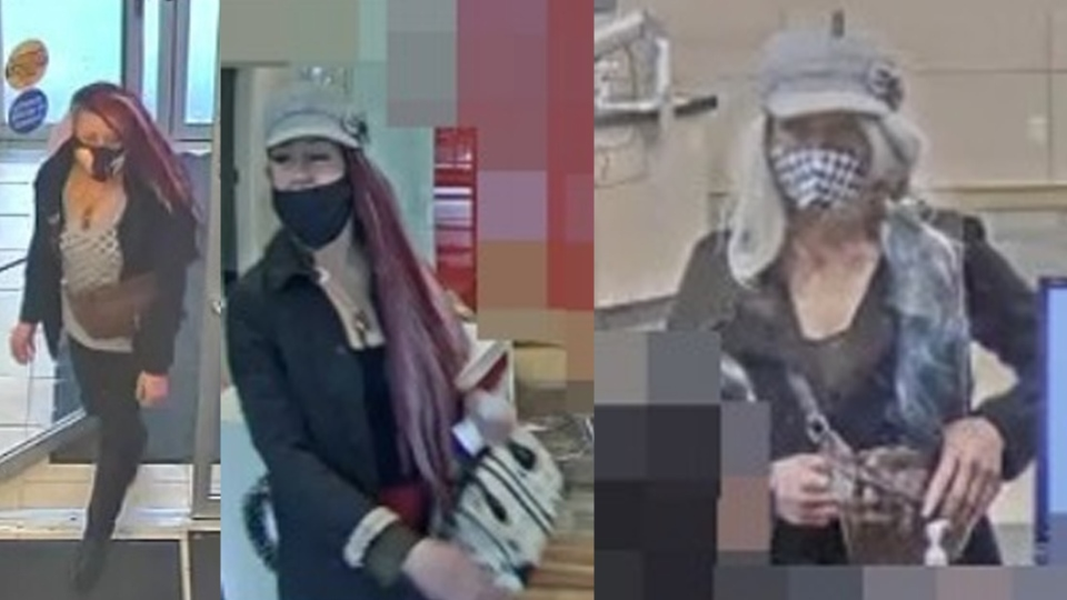 Woman involved in cheque fraud.