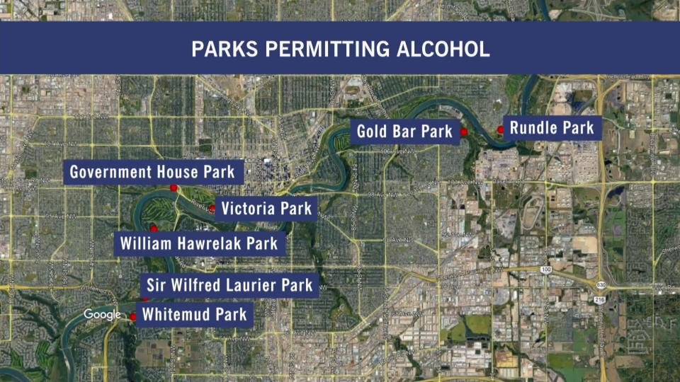 Edmonton parks permitting alcohol