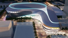 Proposed rendering of downtown Edmonton arena.