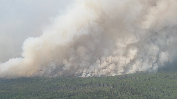 Wildfire burning near Zama City, Alta.