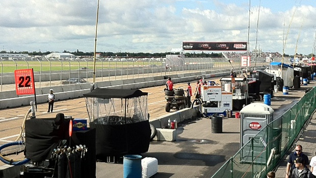 A track at the Edmonton Indy on Saturday, July 21, 2012.