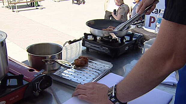 Some Edmonton food bloggers went head-to-head in a culinary cook off at Churchill Square Sunday.