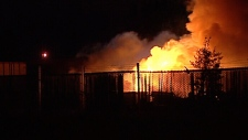 Industrial fire in the area of 140 Street and 134 Avenue.