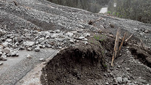 Mudslide near Maline Lake