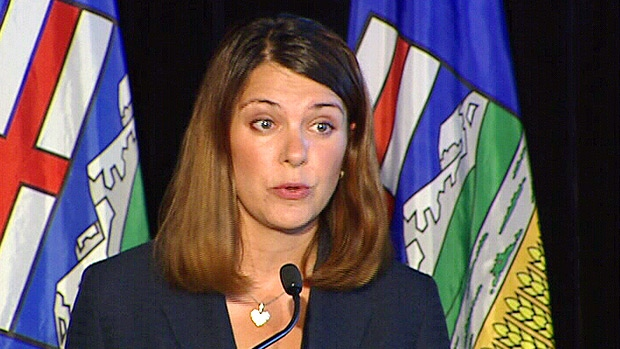 Wildrose and Official Opposition Leader Danielle Smith addresses the media in a press conference on Wednesday, August 8.
