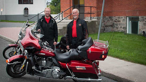 Chris Anderson and his dad Dave rode across the country raising money and awareness for multiple sclerosis. SUPPLIED.
