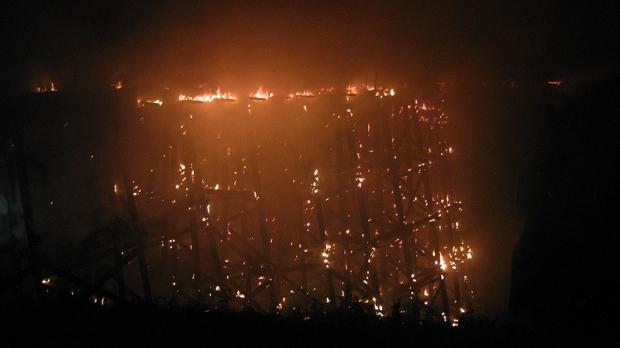 Cold Lake Trestle Bridge fire