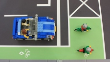 A city illustration showing how the new 'bike box' will work.