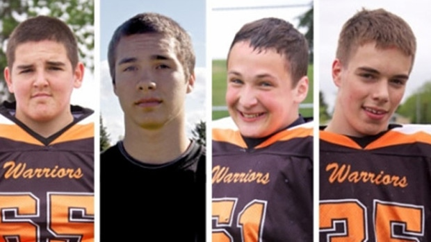 Four teenage boys were killed after a collision near Grande Prairie in Oct. 2011.