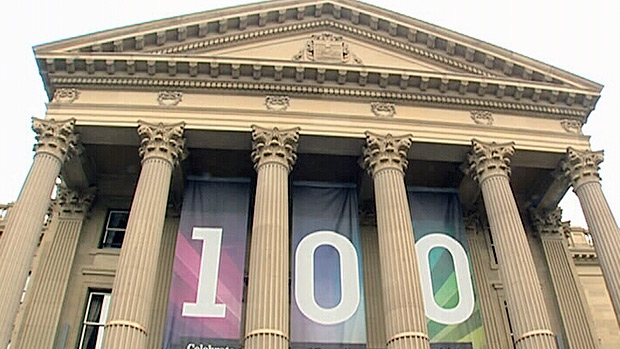 The Alberta Legislature building celebrated its 100th birthday on Sunday.