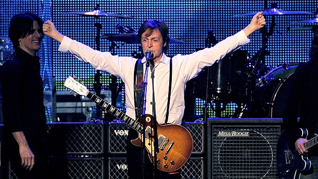 Paul McCartney is shown in a photo from the MusiCares Person of the Year in Los Angeles on February 10, 2012. (AP Photo/Chris Pizzello, file)