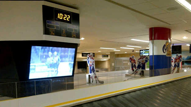 An Edmonton Oil Kings-themed carousel is unveiled at the Edmonton International Airport. PHOTO: Edmonton Oil Kings.
