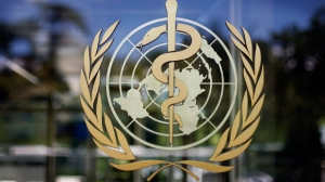 The logo of the World Health Organization is seen at the WHO headquarters in Geneva, Switzerland, Thursday, June 11, 2009.  (AP / Anja Niedringhaus)