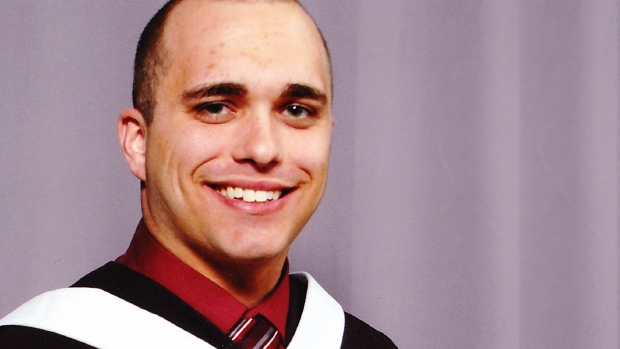 Garret Elsey is shown in his Carleton University graduation photo, supplied to CTV News by his family.